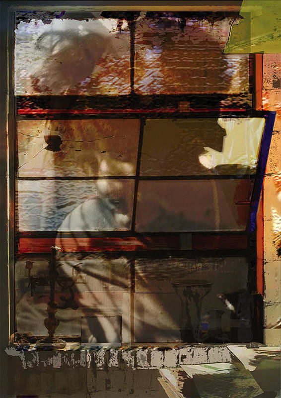 Window Art Print featuring the digital art Reflections And Memories by Xavier Carter
