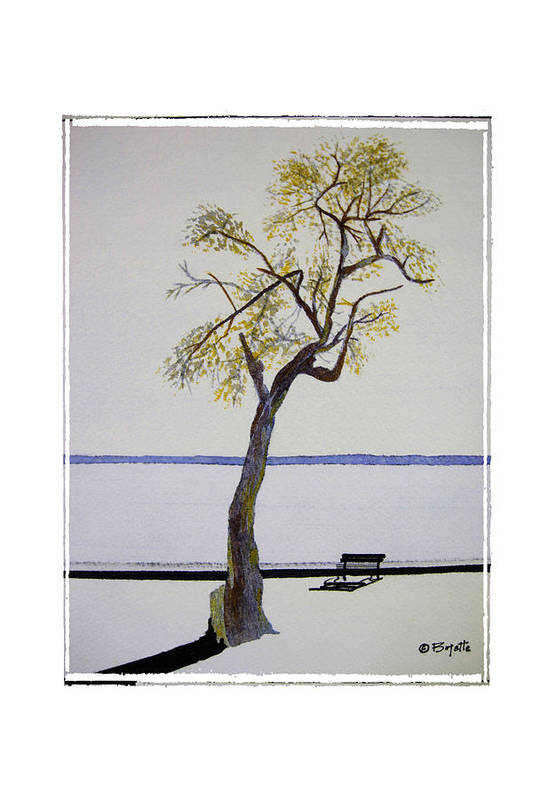 Tree Art Print featuring the painting Resting Place by Robert Boyette