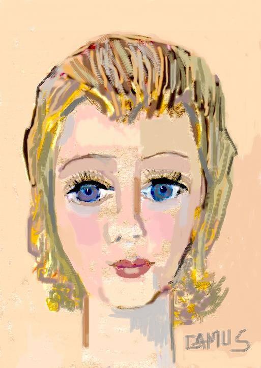 Art Art Print featuring the painting Retrato De Sarita by Carlos Camus