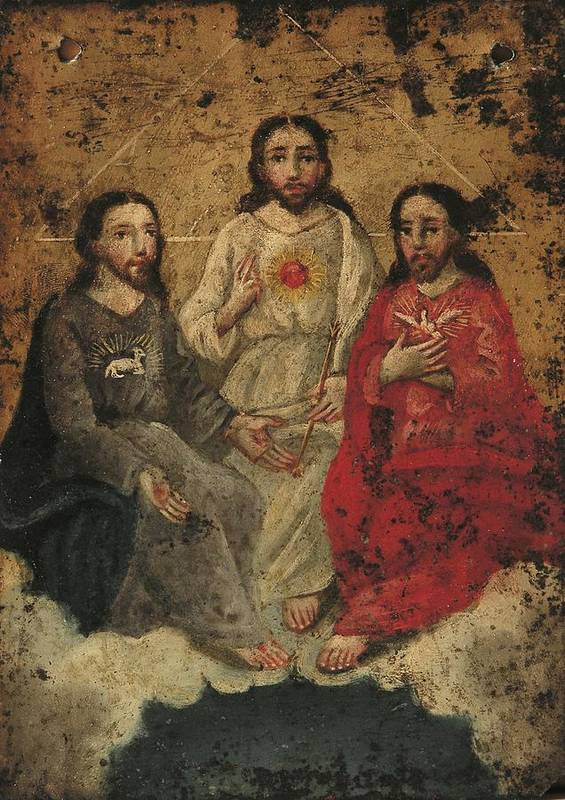 Religion Art Print featuring the painting Santisima Trinidad by Unknown
