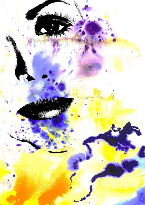 Graphic Design Art Print featuring the digital art Self by Ramneek Narang