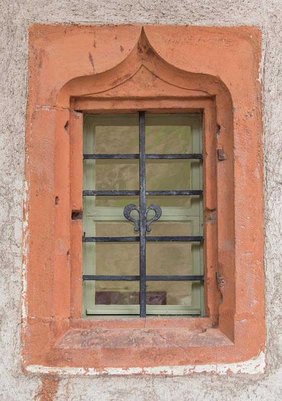 Heidelberg Art Print featuring the photograph Soldatenbau Window by Teresa Mucha