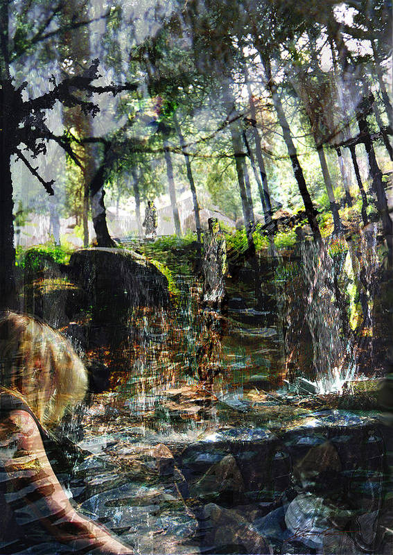 Forest Art Print featuring the mixed media Somewhere In Time by Xavier Carter