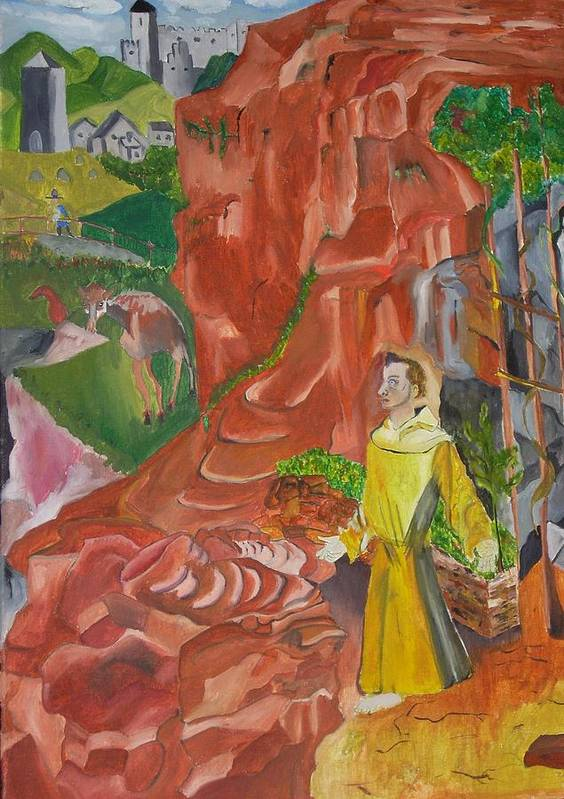 Art Print featuring the painting St. Francis In Ectasy by Joseph Arico
