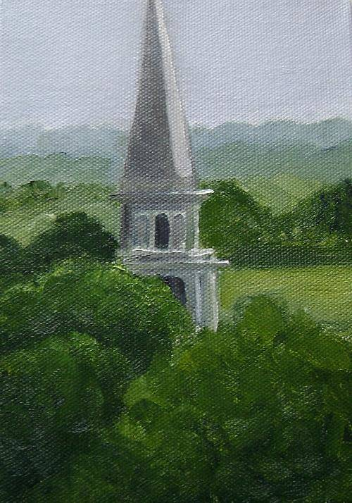 Steeple Art Print featuring the painting Steeple by Toni Berry