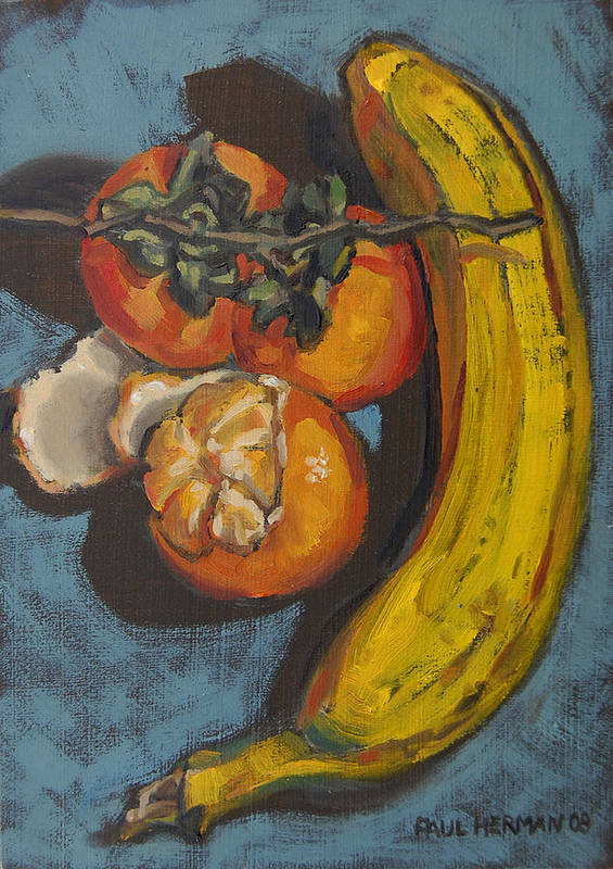 Fruit Art Print featuring the painting Still Life by Paul Herman