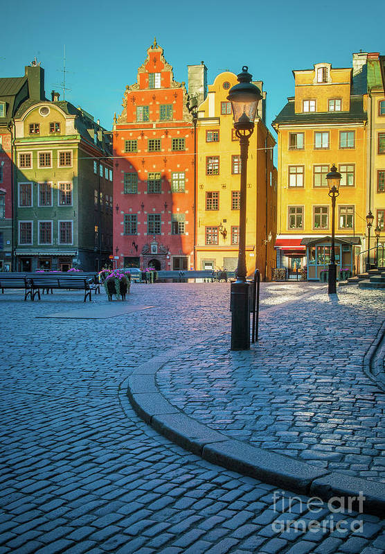 Europe Art Print featuring the photograph Stockholm Stortorget Square by Inge Johnsson