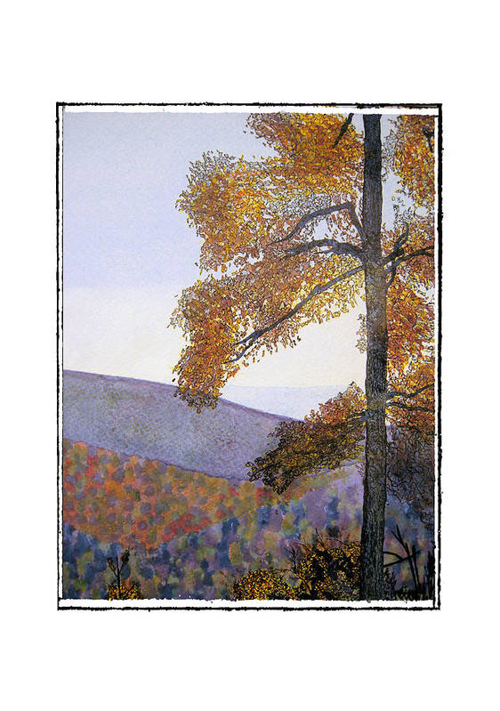Landscape Art Print featuring the painting Tapestree by Robert Boyette