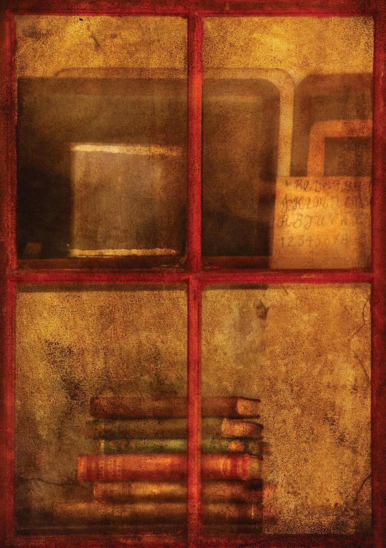 Teacher Art Print featuring the photograph Teacher - School Books by Mike Savad