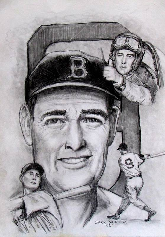Baseball Print featuring the photograph Ted by Jack Skinner