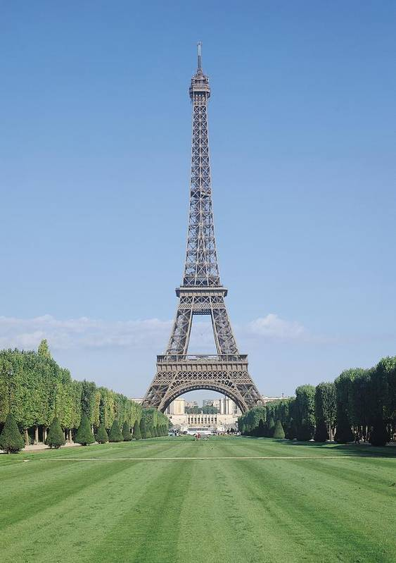 The Print featuring the photograph The Eiffel Tower by French School