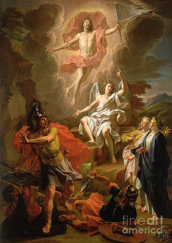 The Resurrection Of Christ Art Print featuring the painting The Resurrection Of Christ by Noel Coypel