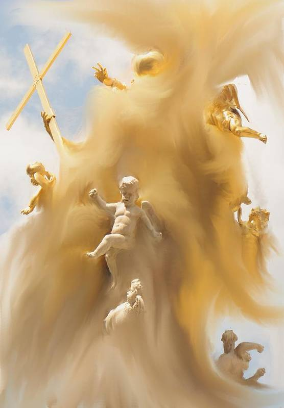 Religion Art Print featuring the digital art The Whirlwind by Ian MacDonald