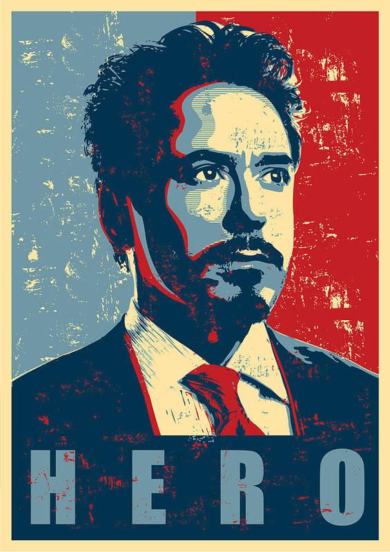 Iron Man Art Print featuring the digital art Tony Stark by Caio Caldas