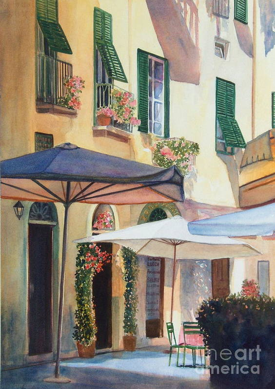 Tuscan Art Print featuring the painting Tuscan Sunlight by Ann Cockerill