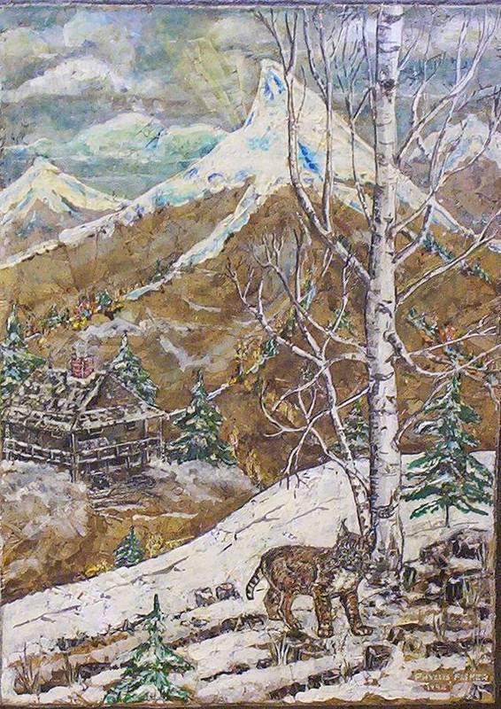Snow Scene Art Print featuring the painting Unexpected Guest I by Phyllis Mae Richardson Fisher