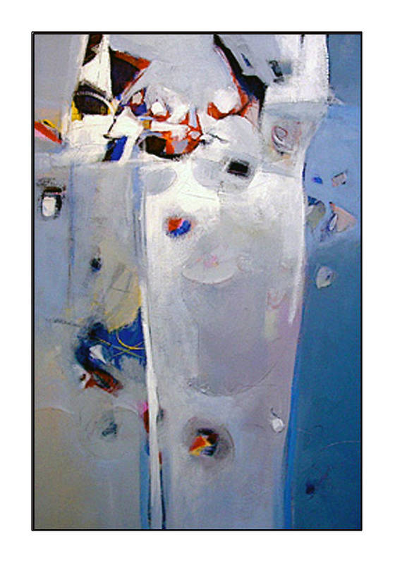 Abstract Art Print featuring the painting Victor by Dale Witherow