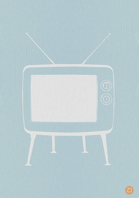 Art Print featuring the digital art Vintage Tv Poster by Naxart Studio