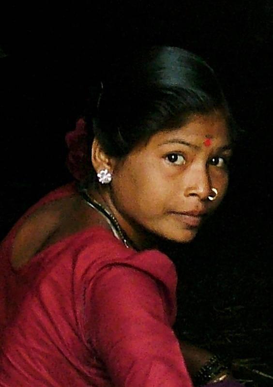 Woman Art Print featuring the mixed media Warli Woman by Pramod Bansode