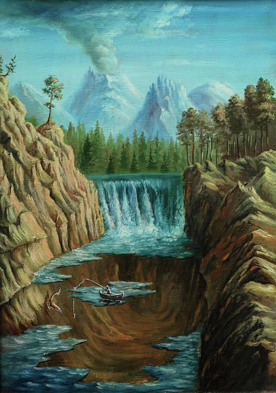 Scenics Art Print featuring the digital art Angeln by Pobytov