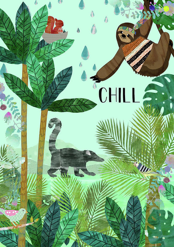 Chill Art Print featuring the mixed media Chill by Claudia Schoen