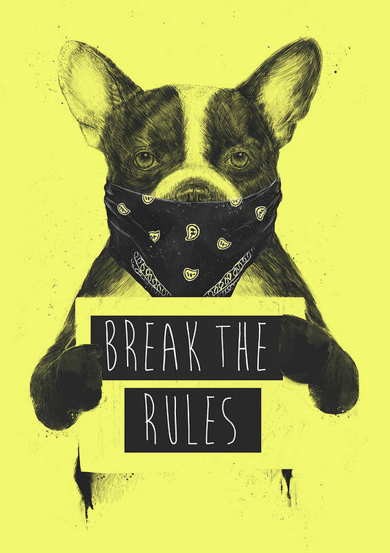 Dog Art Print featuring the mixed media Rebel Dog II by Balazs Solti
