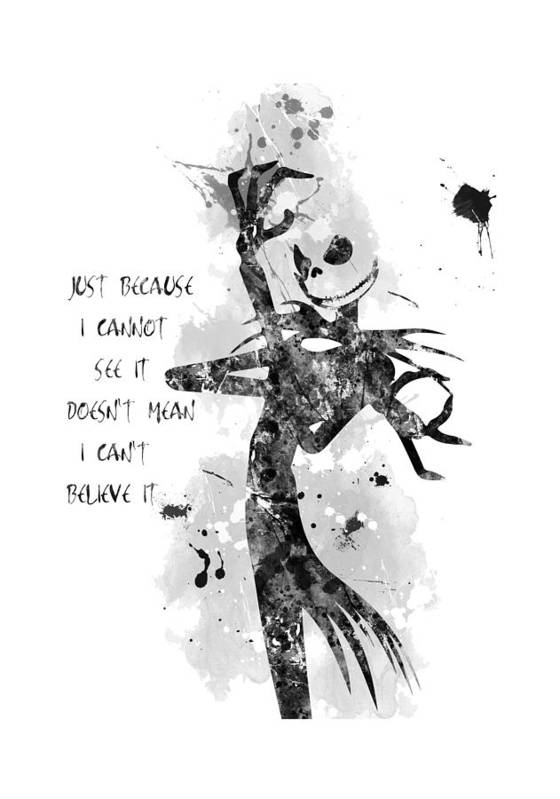 Christmas Art.The Nightmare Before Christmas Jack Skellington Art Print