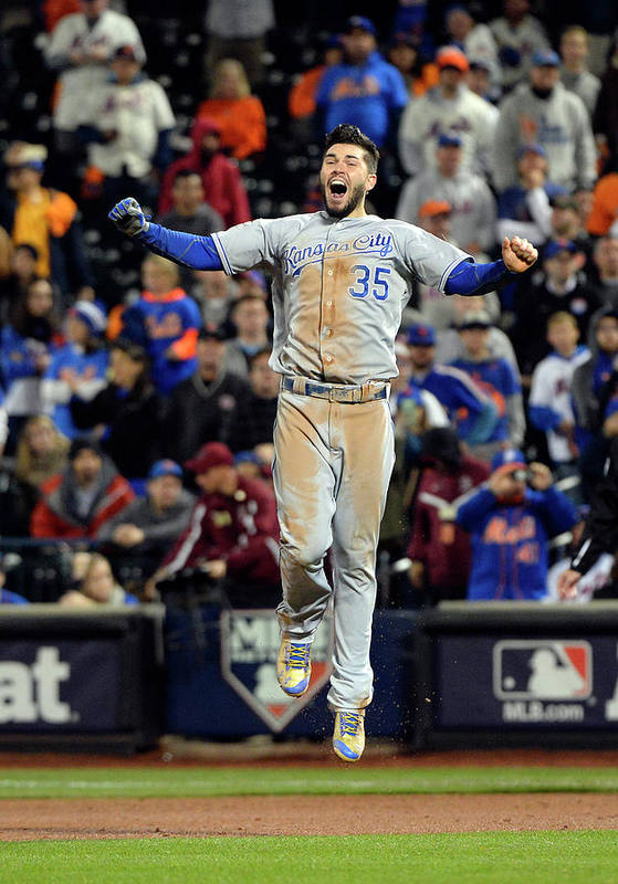 Playoffs Art Print featuring the photograph Eric Hosmer by Ron Vesely