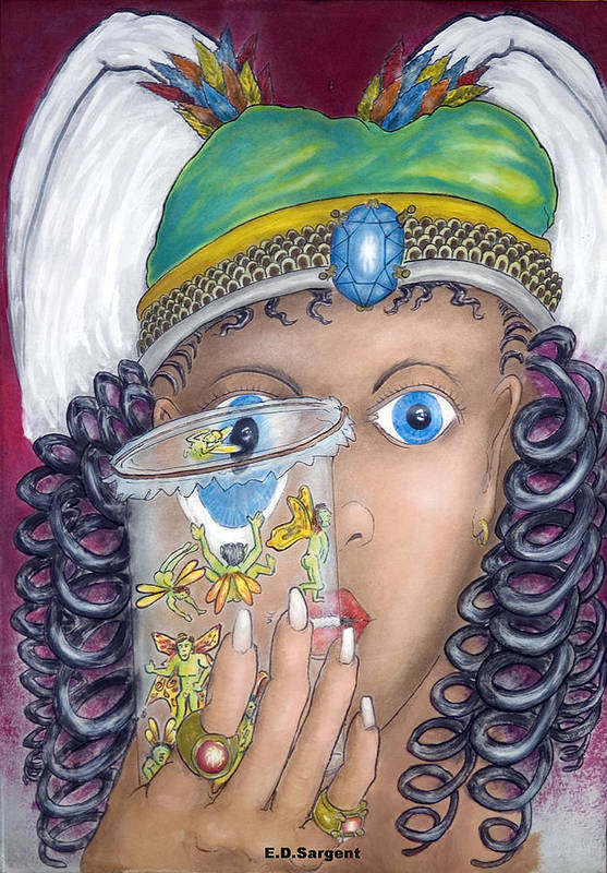 Fantasy Art Print featuring the painting Her Jarflies by Eddie Sargent