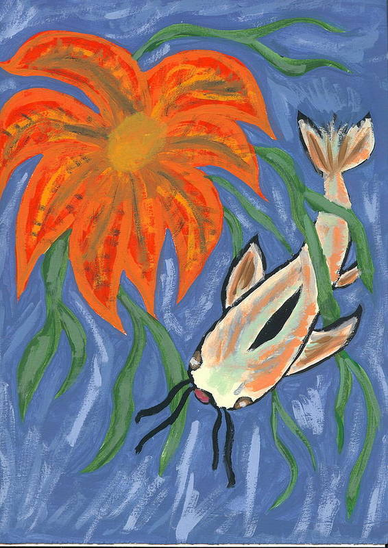 Flower Art Print featuring the painting Belize by Laura Lillo