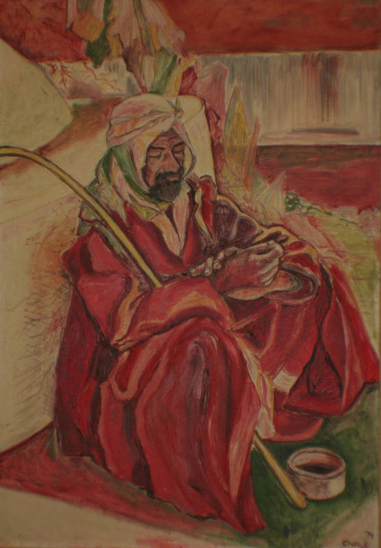 Art Print featuring the painting Prayer At Benghazi by Biagio Civale