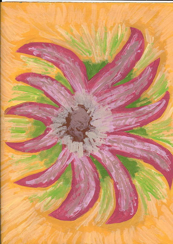 Flower Art Print featuring the painting Spider by Laura Lillo