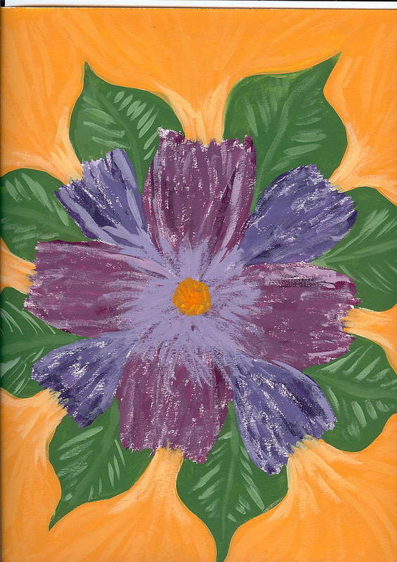 Flower Art Print featuring the painting Viola by Laura Lillo
