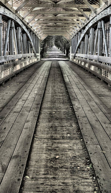 Covered Bridge Art Print featuring the photograph The Covered Bridge by JC Findley