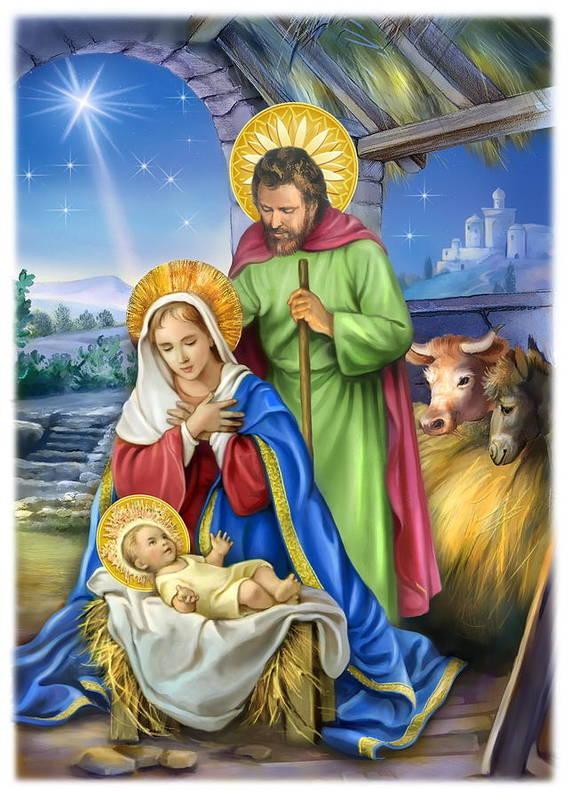 nativity of jesus art print by patrick hoenderkamp