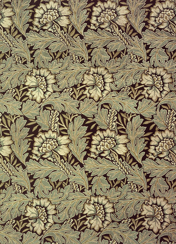 Anemones Art Print featuring the tapestry - textile Anemone Design by William Morris