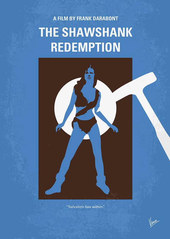 Shawshank Art Print featuring the digital art No246 My The Shawshank Redemption Minimal Movie Poster by Chungkong Art