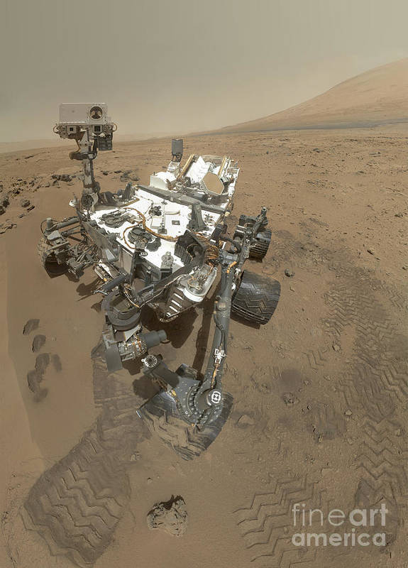 Vertical Art Print featuring the photograph Self-portrait Of Curiosity Rover by Stocktrek Images