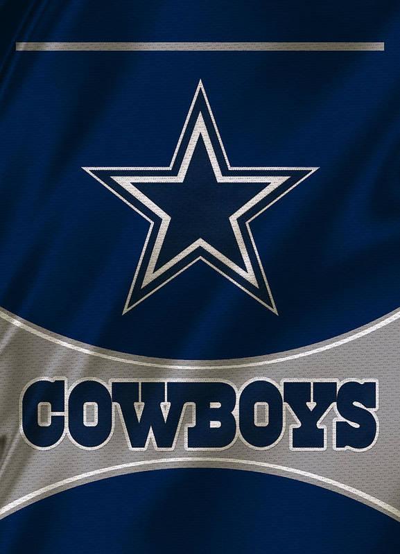 Dallas Cowboys Uniform Art Print By Joe Hamilton