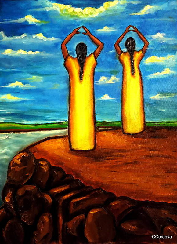 Women Art Print featuring the painting Faith And Hope by Carmen Cordova