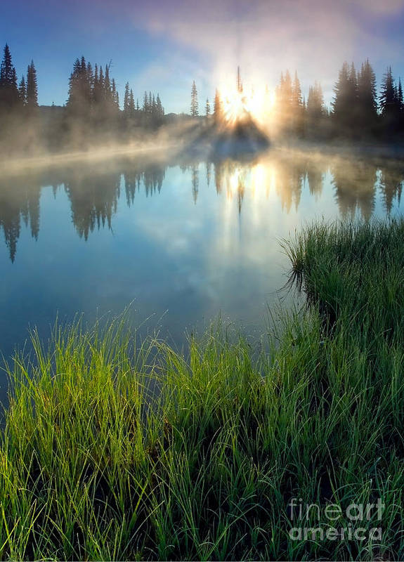 Fog Print featuring the photograph First Light by Mike Dawson