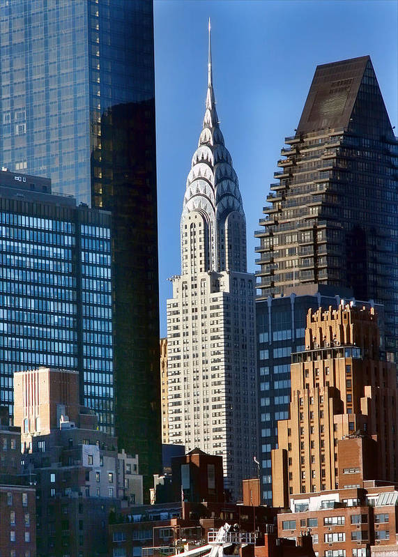 New York City Art Print featuring the photograph Chrysler Building by June Marie Sobrito