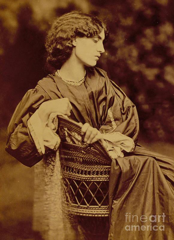 Photo Art Print featuring the photograph Portrait Of Jane Morris by John Parsons