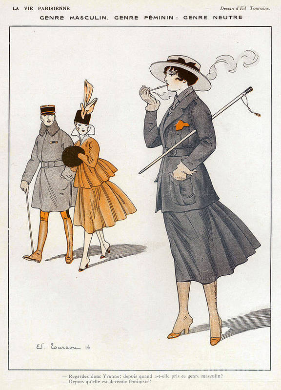 1910�s Art Print featuring the drawing La Vie Parisienne 1916 1910s France Cc by The Advertising Archives