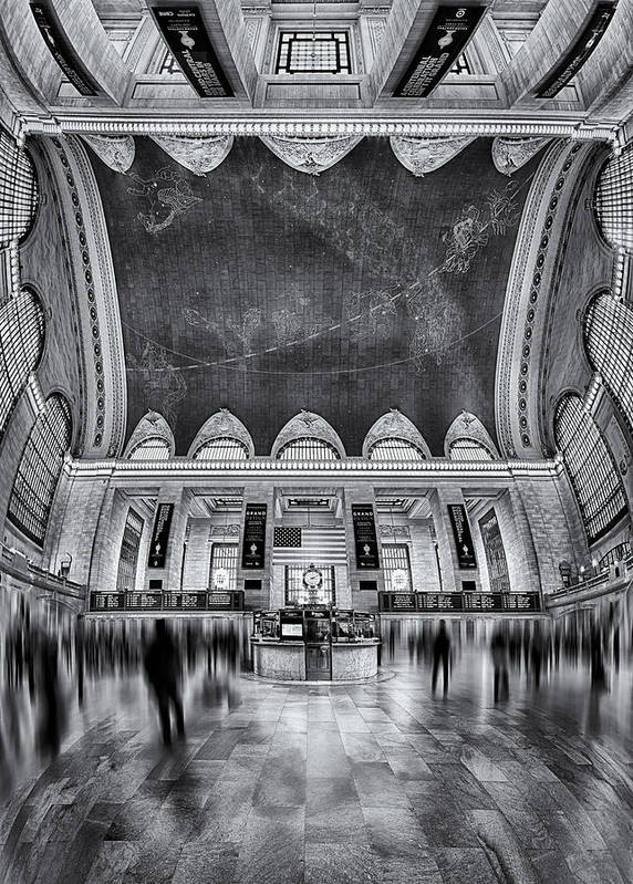 New York City Print featuring the photograph A Central View Bw by Susan Candelario