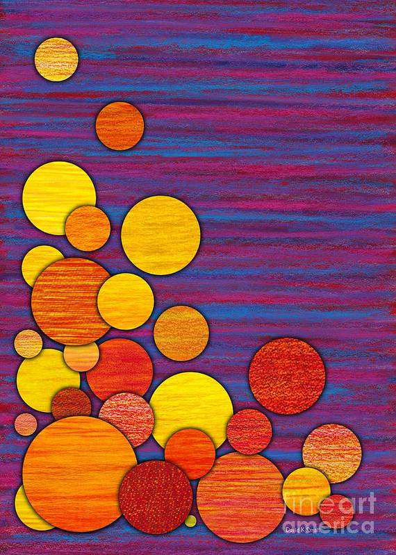 Colored Pencil Art Print featuring the painting Accumulation by David K Small