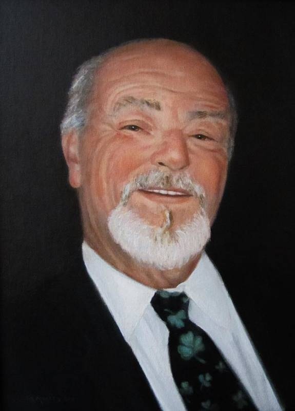Alfred J Mickee Jr Art Print featuring the painting Alfred Mickee Jr by Sharon Morley