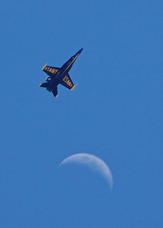 Blue Angels Art Print featuring the photograph Angel To The Moon by Christina Phelps