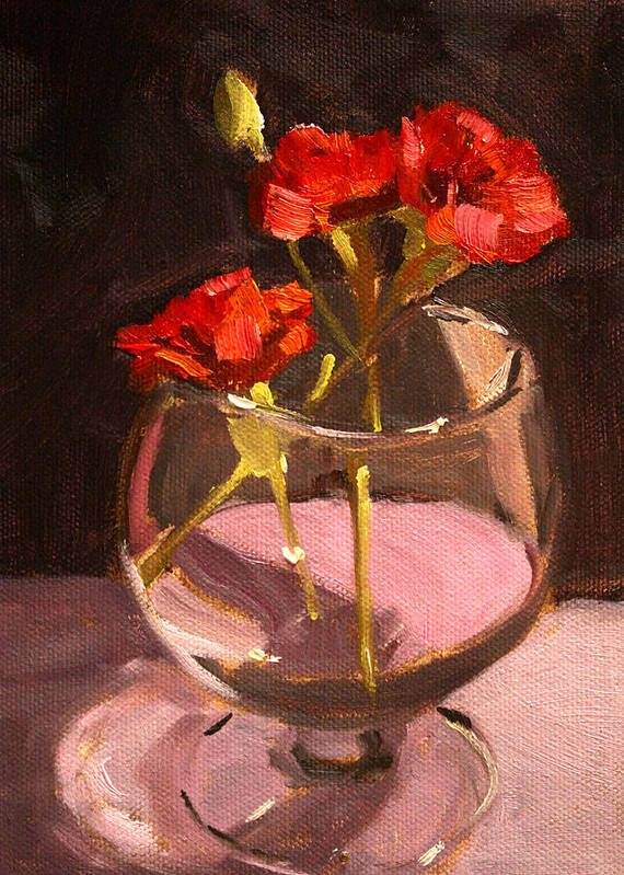 Anniversary Art Print featuring the painting Anniversary by Nancy Merkle