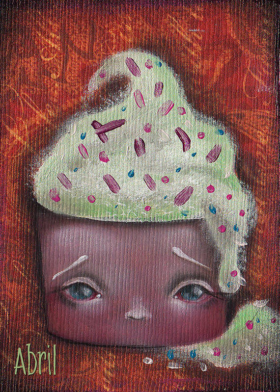 Cupcake Art Print featuring the painting Baby Cakes II by Abril Andrade Griffith